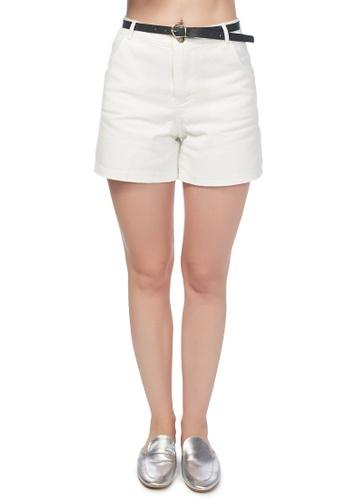 London Rag white White Cotton Shorts C5AF6AA4886842GS_1