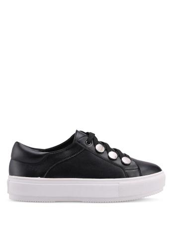 Carlton London black Sneakers With Metallic Detail 8AFA2SH5380830GS_1