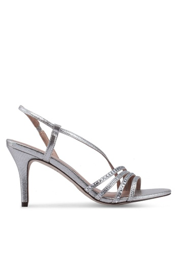 6436b699d7e Call It Spring silver Nocturna Open Toe Ankle Strap Stiletto Heels  63F33SH507793FGS_1