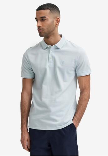 Selected Homme blue Organic Polo Shirt 45A6DAAED34F02GS_1