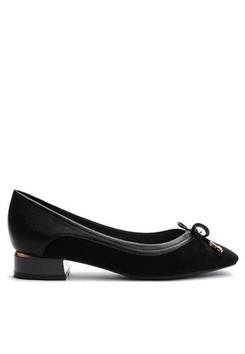 Twenty Eight Shoes black Suede Fabric Mid Heel 6637-3 B51A4SHAABF5A7GS_1