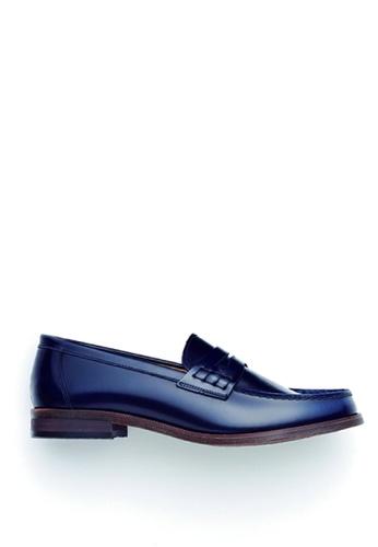 HARUTA 藍色 男裝樂福皮鞋-920 1F979SH58DD560GS_1