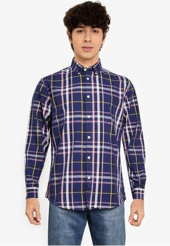 Springfield blue Checked Shirt E8BCEAA8B6F937GS_1
