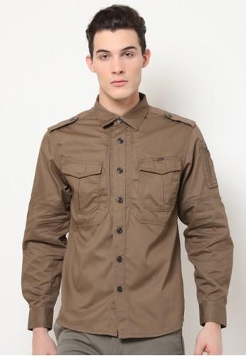 MGEE brown Mgee Casual Shirt 32B80AAA034F1BGS_1