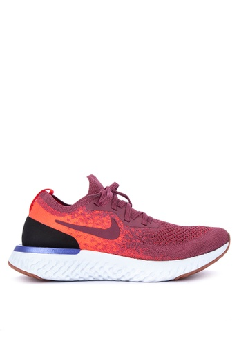 Nike red Women's Nike Epic React Flyknit Running Shoes C4C18SH1847E7FGS_1