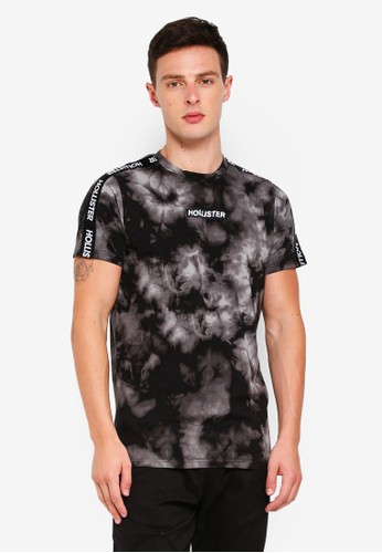 Hollister black and multi Wash Sport Print Tee 4349EAA0DFAC25GS_1