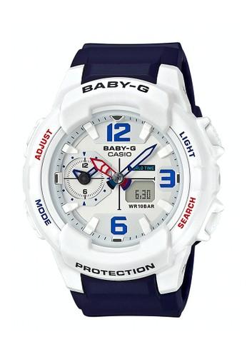 Baby-G navy Casio BABY-G Jam Tangan Wanita - Blue White - Resin - BGA-230SC-7BDR  99424ACE9AC696GS_1