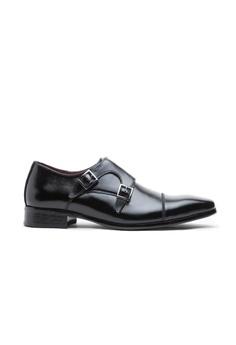 83eae1c68a06 Kings Collection black Kieren Monk Strap Shoes 61703SH41661EDGS 1