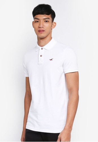 Hollister white Core Icon Solid Polo Shirt 2D022AA272079FGS_1