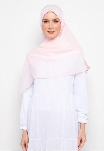 KASHKHA pink Hijab Square Poly Corner with Stone By Kashkha/A18SHBAHJBKGR3066-Baby Pink A4FF4AA6FB5443GS_1