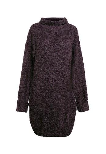 VOYANT BY MEGUMI purple Knit Wool Blend Sweater 8B6B2AA58206E4GS_1
