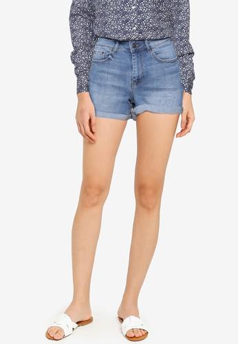 Springfield blue Basic Denim Shorts 773AEAA89E3FEBGS_1