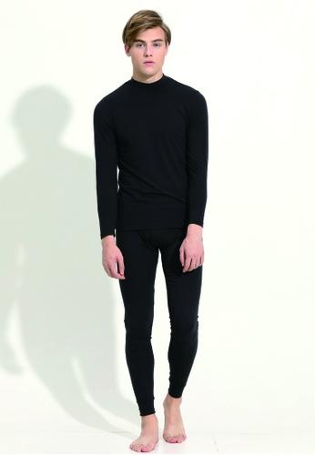 CorpoX 黑色 半高領發熱衣【男】 06A7FAA25ACD98GS_1