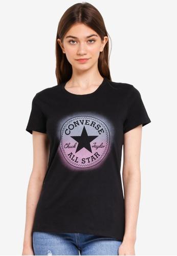 8c9b4b78404 Converse black Converse All Star Ombre Chuck Patch Crew Tee  9905AAACDAA4B8GS 1