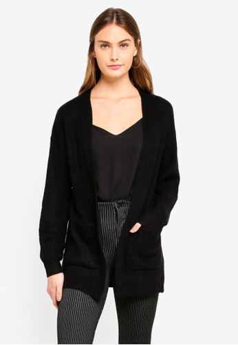 OVS black Long Sleeve Cardigan 9BE7DAA28DD8FBGS_1