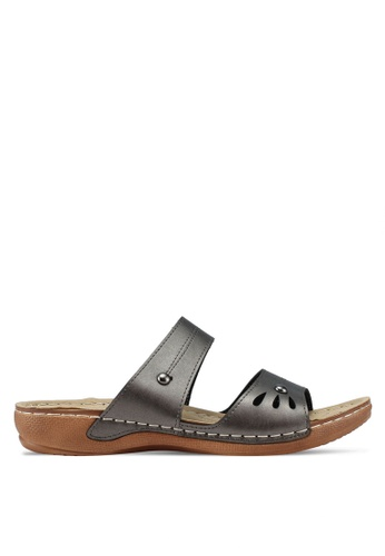 Spiffy grey Soft and Comfort Slip-on Wedges Sandals 36834SHC86524EGS_1