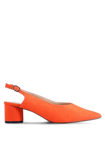 Miss Selfridge 粉紅色 Clara 紅色 Round Heel 後繞帶Shoes DAC60SH9EF7C7DGS_1