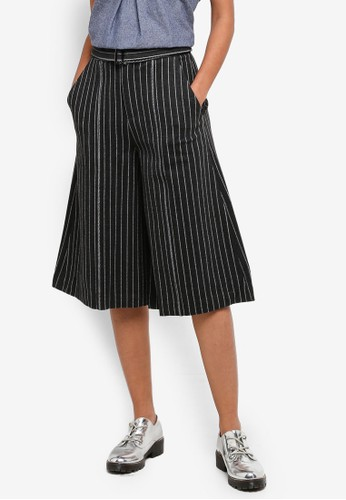Hopeshow grey Straight Cut Striped Pants 8D9F2AA50CC057GS_1
