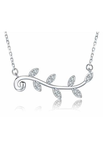 A-Excellence white Premium Elegant White Sliver Necklace 760FBACDFE3C30GS_1