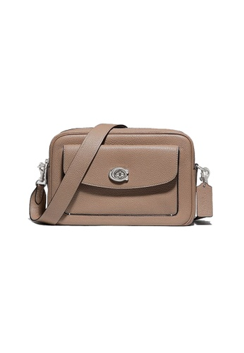 Coach beige Coach Cassie Camera Bag In Taupe 639 781F7AC1A06AF0GS_1
