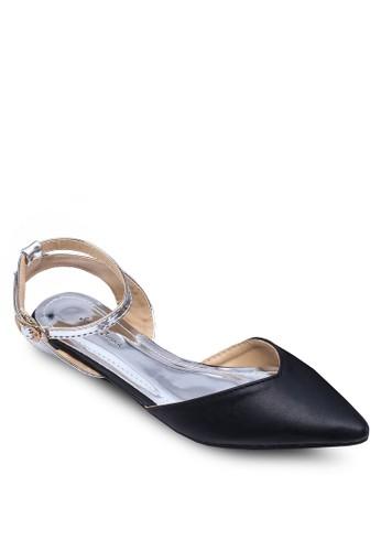 繞踝側zalora鞋子評價鏤空尖頭平底鞋, 女鞋, 鞋