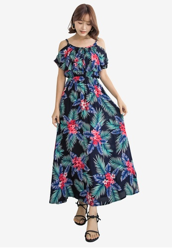 Tokichoi navy Floral Print Cami Maxi Dress 70868AA67104AAGS_1