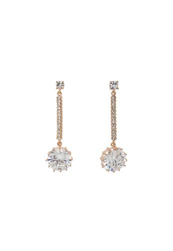 Jaysa Collection gold Ideal Cut Class AAA Zirconia Dangle Earrings JA875AC0GE8OSG_1