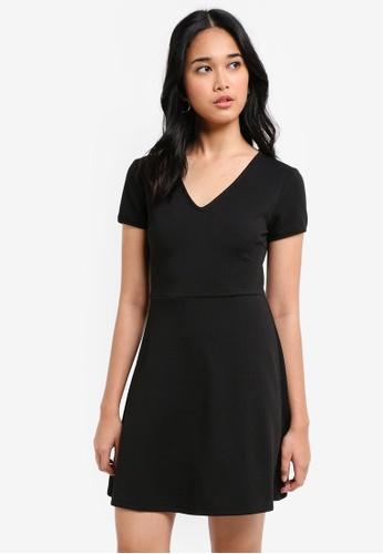 Something Borrowed black Knit Fit & Flare Dress 78FBBAAF6A51DAGS_1