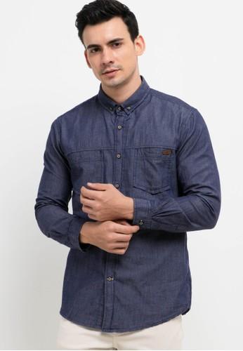 Lois Jeans blue Cotton Chambray Shirts 43F10AAE34E4EFGS_1