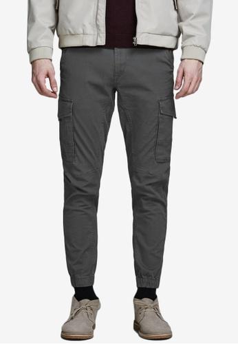 Jack & Jones grey Paul Cuffed Cargo Pants D9F7EAAD74BE4FGS_1
