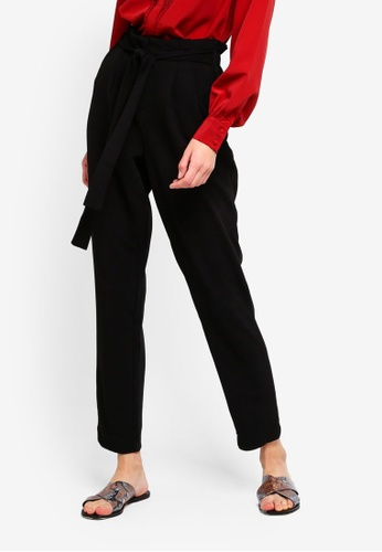 ONLY black Florence Waffle Ankle Pants 02D9EAA41ED605GS_1