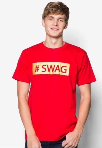 esprit hk燙金#SWAG 印花T 恤, 服飾, 印圖T恤