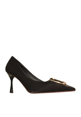 Twenty Eight Shoes black Square Buckled Heels VL501912 843B8SH6007867GS_1