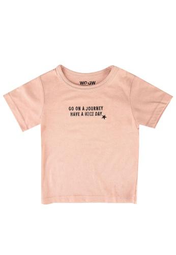GLOBAL WORK pink Kids Print Tee CFB6DKA3BE0132GS_1