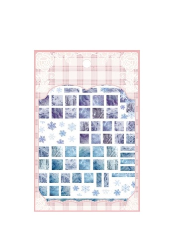 Pretty2u blue Square Blue Marble Ultra Thin Nail Sticker 165D3BEE2C2E85GS_1