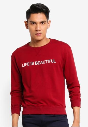 Fidelio red Life Is Beautiful Casual Sweatshirt 205EBAA89A4C6BGS_1