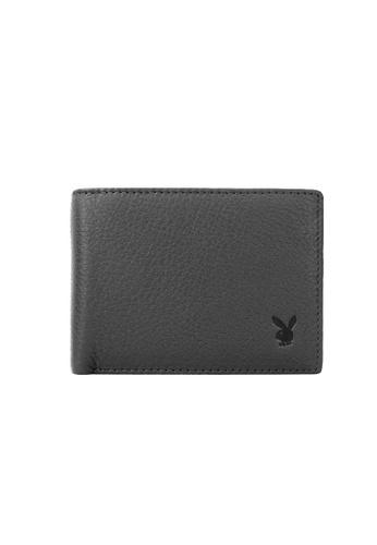 Playboy grey Faux Leather Rfid Blocking Wallet 9A662AC4575561GS_1