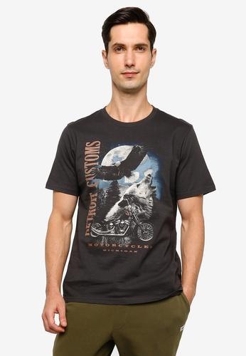 Cotton On grey Tbar Moto T-Shirt 5875DAAC5DA2EEGS_1