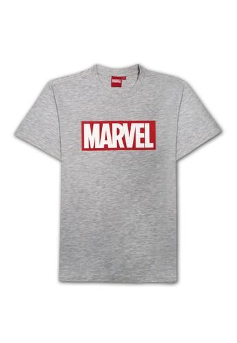 MARVEL grey Marvel Genuine Men Avengers MARVEL Block Short Sleeve T Shirt VIM20642-GREY 7BC40AAA19A070GS_1