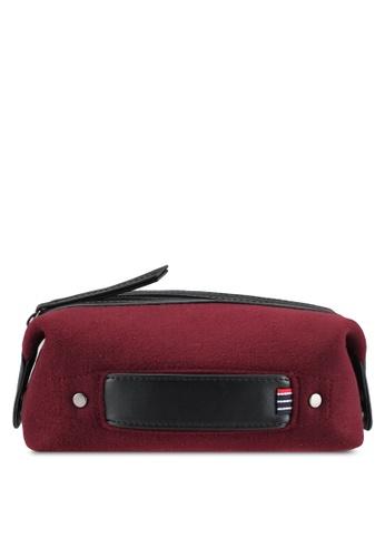 ZALORA red Felt Wash Bag D8125AC92A97AEGS_1