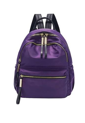Twenty Eight Shoes purple VANSA Nylon Oxford Backpacks VBW-Bp3651 C2037ACC87C8A2GS_1