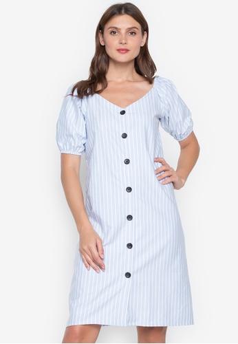 Chictees blue Kerry Stripe Dress 9C717AA8927D1FGS_1