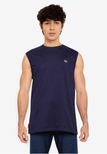 Superdry navy Collective Oversized Vest 8CE31AA1AB1276GS_1