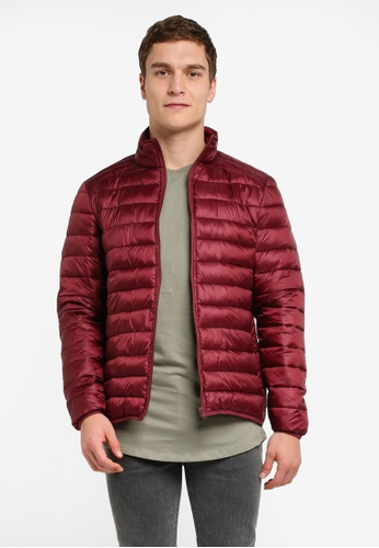 River Island red Red Funnel Neck Puffer Jacket RI009AA0SITWMY_1