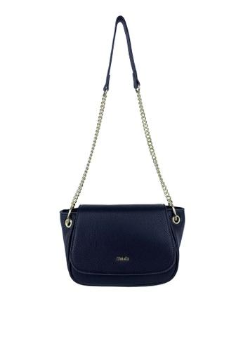 Mel&Co black Faux Leather Chain Sling Bag 66769AC7003E46GS_1