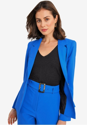 FORCAST blue Julie Single-breasted Blazer D87DEAAEB09F5FGS_1