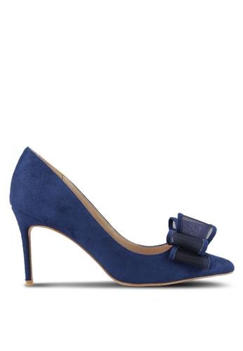 Velvet 海軍藍色 Deconstructed 蝴蝶結 Pump 高跟鞋 5561CZZ52CC732GS_1