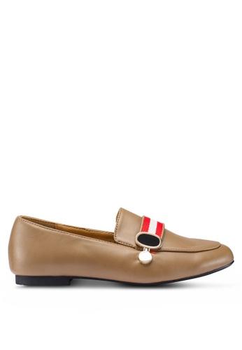 Berrybenka 褐色 Vucca Octo 樂福鞋 4F88ASH35B92E4GS_1