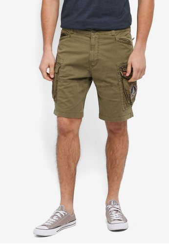 Superdry green Core Lite Parachute Shorts C4329AAD22E120GS_1