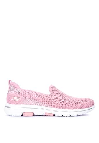 Skechers pink Go Walk 5 - Prized Sneakers C1B98SH95AC8EDGS_1